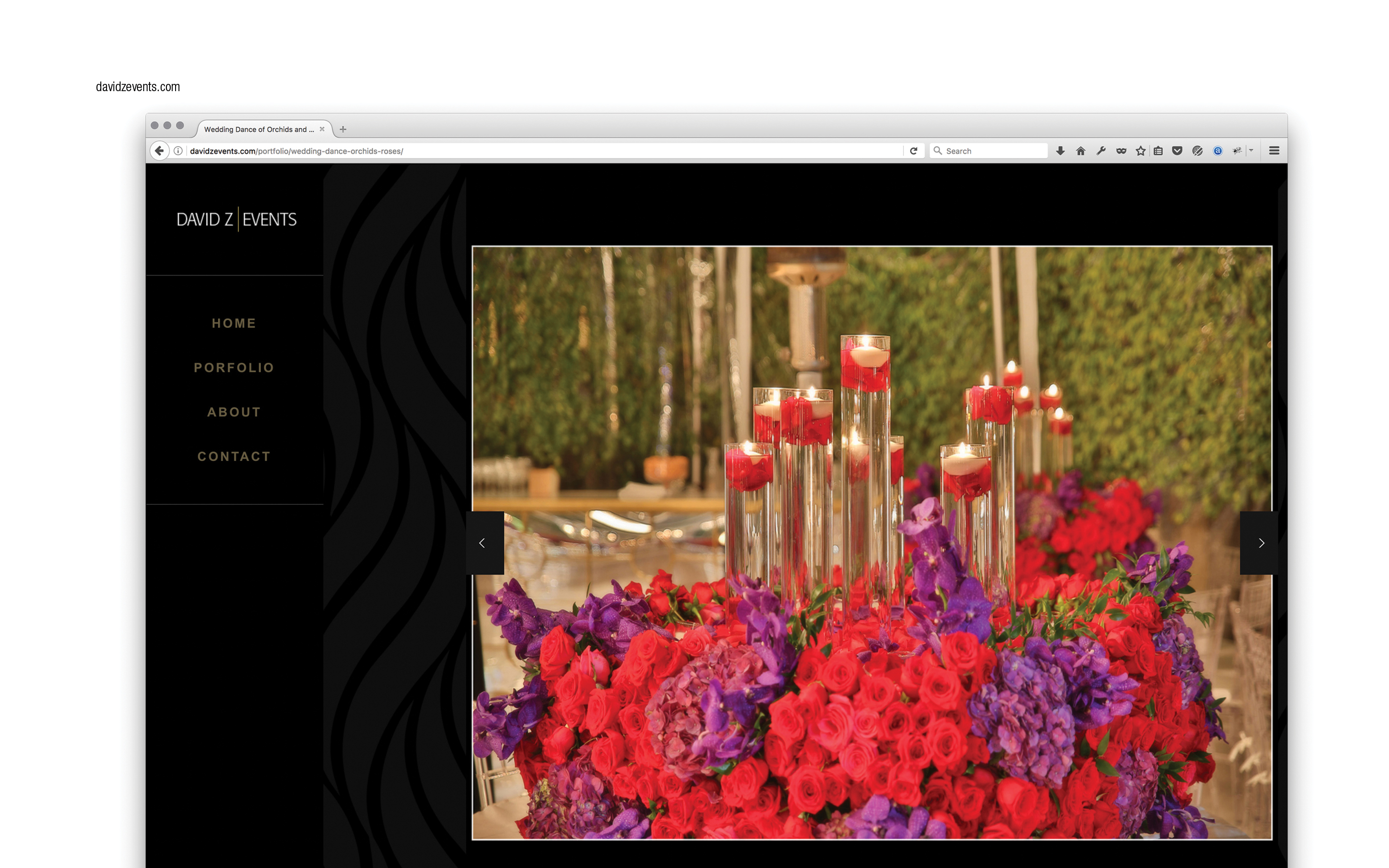 website, wordpress, css3 custom,art director david z events